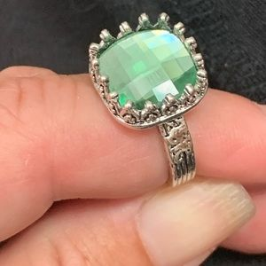New! Peridot Antique Style Ring. Size: 6
